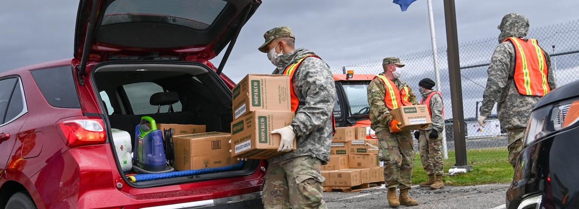 National Guard conducts food distribution
