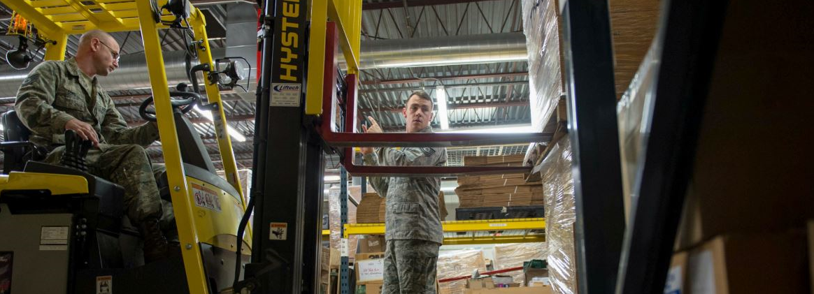 Vermont National Guard works in SNS warehouse